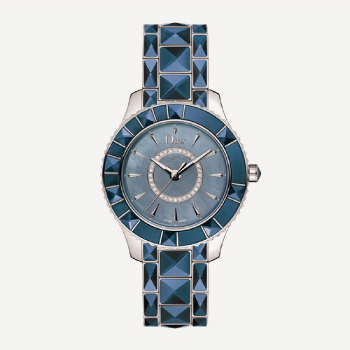 CHRISTIAN DIOR Christal Diamond & Blue Sapphire Dior Christal Ladies Watch CD143117M001